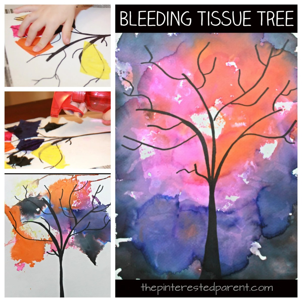 Bleeding Tissue Paper Trees